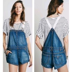 d619e3b7be8 Free People Denim Overall Shapeless Short OnePiece